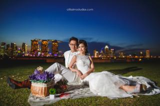 wedding shoot at marina barrage